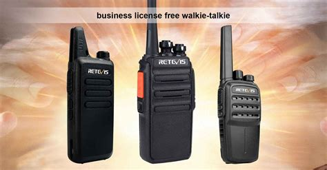 tutorial walkie talkie retevis rt22 rt24 rt40 business license free walkie talkie