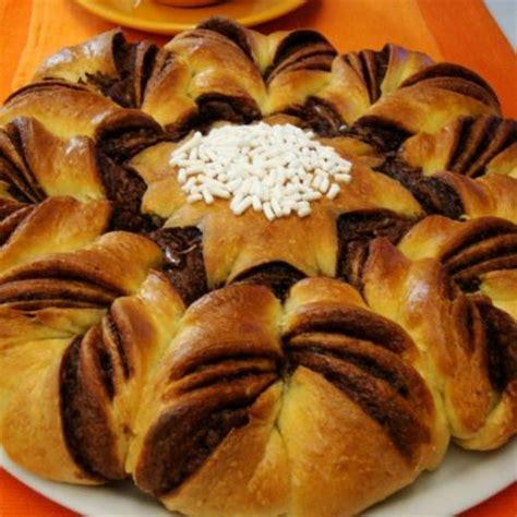 pan brioche alla nutella fiore ricette con la farina di manitoba