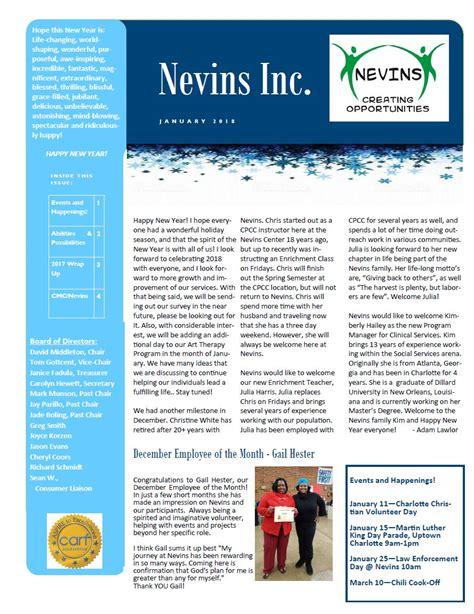 happy new year newsletter nevins inc