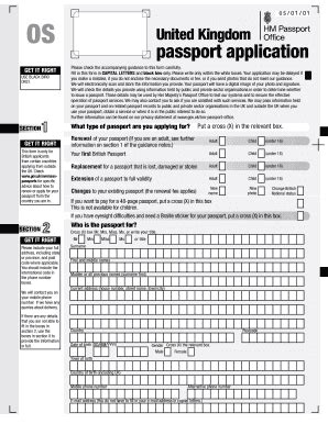 section 4 of passport application uk passport application form fill online printable