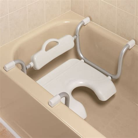 bathtub seats for seniors hygienic bathtub seat xl easycomforts