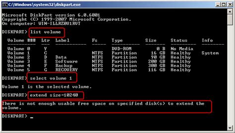 diskpart format partition only diskpart to extend system partition