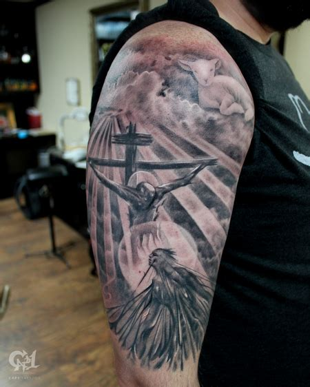 christian tattoo dallas jesus saves tattoo sleeve by capone tattoonow