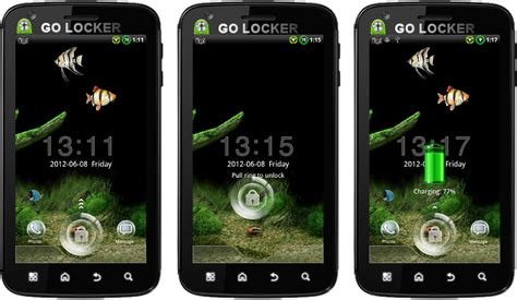 themes android new android themes new aquarium go locker animated theme