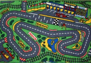 global pitstop racing track cars play mat 100x150