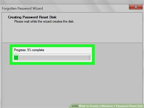 windows reset password disk how to create a windows 7 password reset disk 12 steps