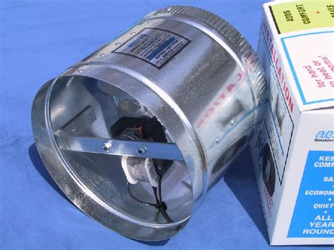 air duct booster fan with pressure switch 8 quot aero flo 420 high cfms inline duct air booster fan ebay