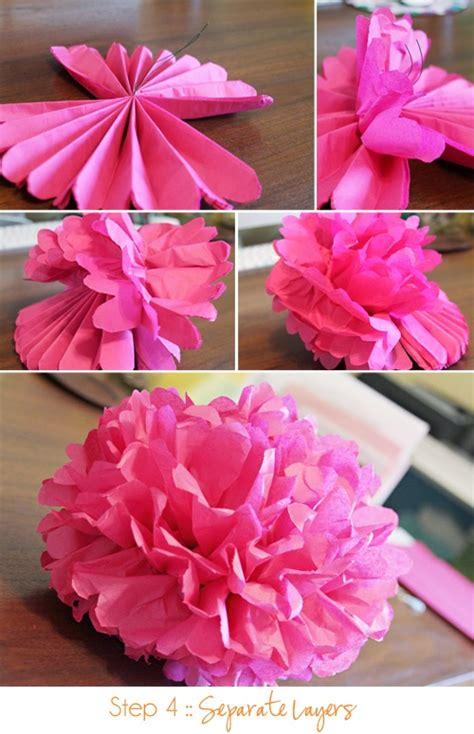 paper flower pom pom tutorial tutorial tissue paper pom poms paper pom poms tissue