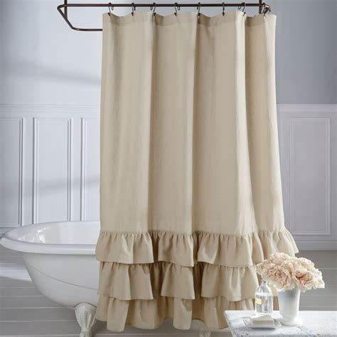 Curtain astonishing ruffled shower curtain country ruffled shower curtains shabby chic shower