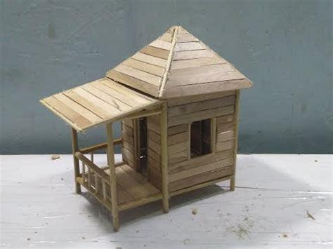 vidio membuat rumah dari stik tutorial kerajinan tangan cara membuat miniatur rumah