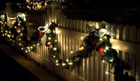 images of christmas garland on a fences atlanta fence company fence builders ga