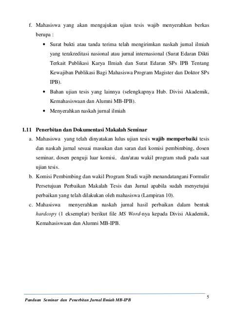 format makalah dikti panduan seminar dan penerbitan jurnal ilmiah mb ipb