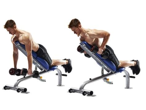 incline bench row hit your core back and biceps with incline bench rows