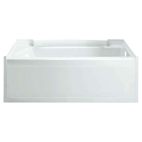sterling accord 5 ft right drain soaking tub in white