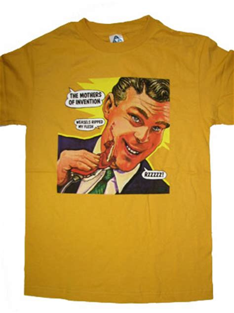 frank zappa weasels ripped  flesh shirt woodstock trading company