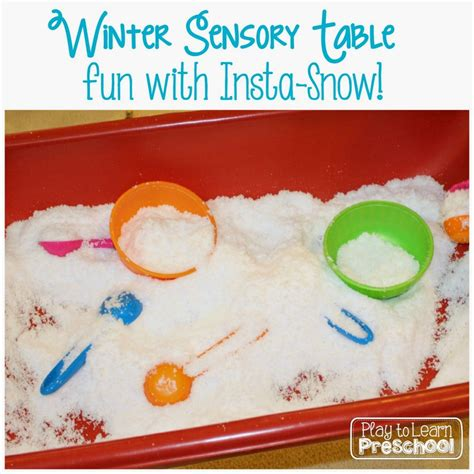 the winter station books insta snow sensory table play to learn