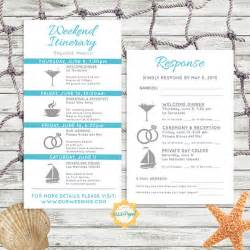 Destination Wedding Itinerary Template by Simple And Modern Wedding Itinerary Card With Rsvp Card