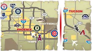 map of ballparks in arizona cactus league map