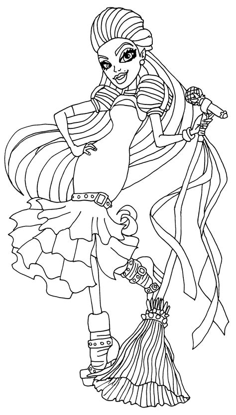 monster high avea trotter coloring pages casta fierce mu 241 ecas monster high
