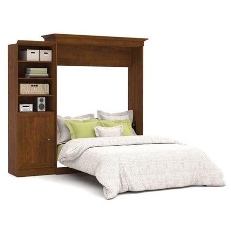 wall unit beds bestar versatile 92 queen wall bed with door storage