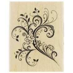 paper inspirations rubber sts flourishes on vine tattoos swirls and
