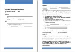 ms word marriage separation agreement template word