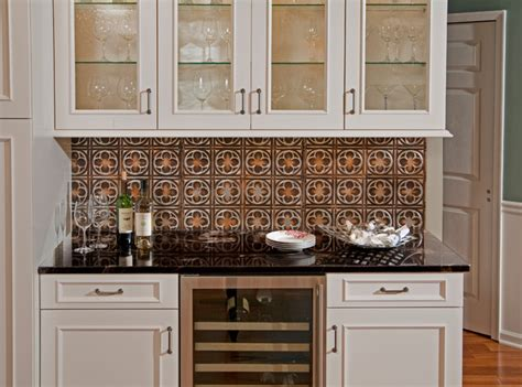 tin backsplash contemporary tile ta by american