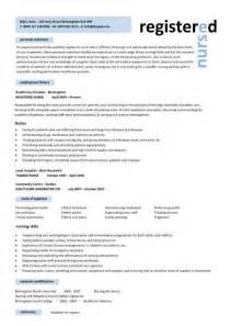 Resume Format For Nurses by Nursing Cv Template Resume Exles Sle Registered Resumes Healthcare Work