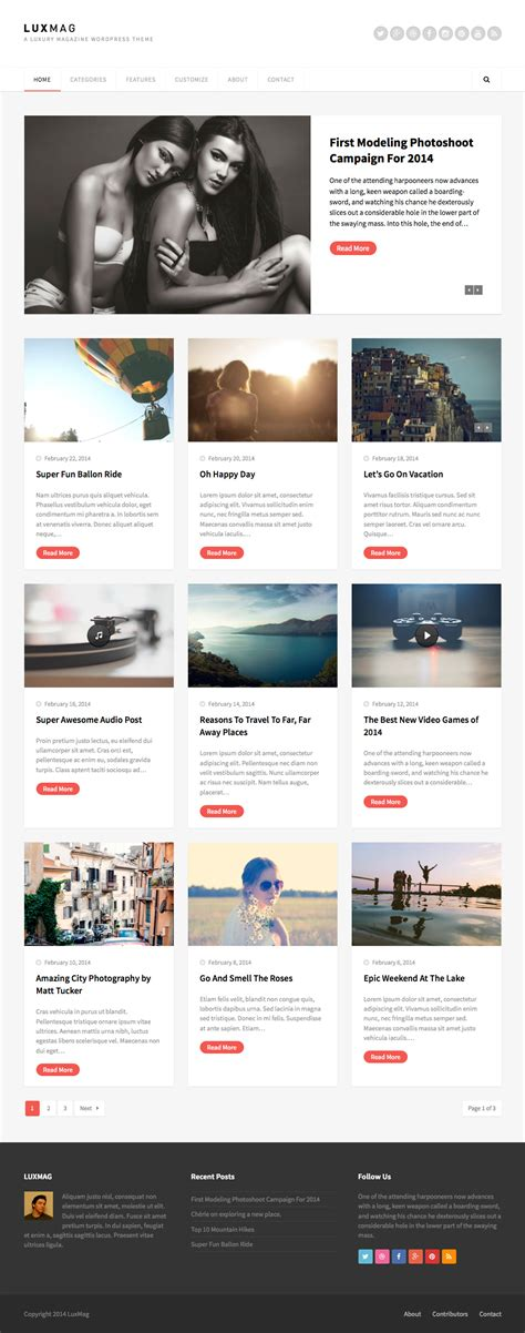 theme blog magazine luxmag responsive blog magazine wordpress theme wpexplorer