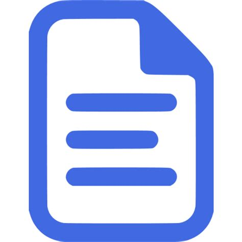royal blue document icon  royal blue file icons