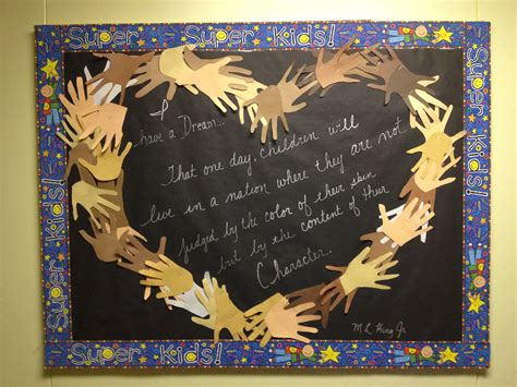 mlk bulletin board classroom ideas pinterest