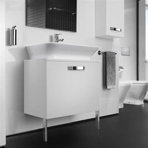 roca the gap matt white base unit with drawer for 500mm basin