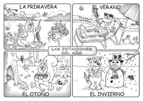 imagenes para colorear las estaciones del año dibujo de las estaciones del a 241 o con animalitos dibujos