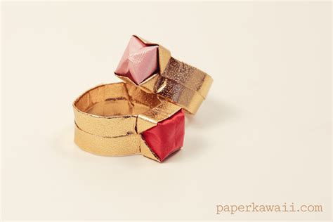 Origami Rings - free coloring pages origami ring box with lid