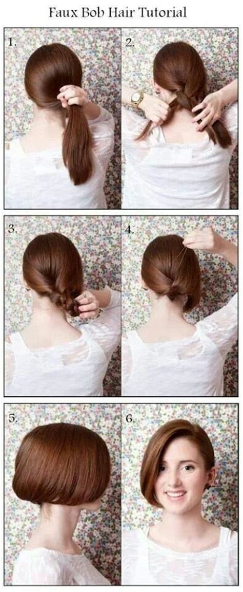 how to do nice hairstyles step by step faux bob hair tutorial hair pinterest bobs bob
