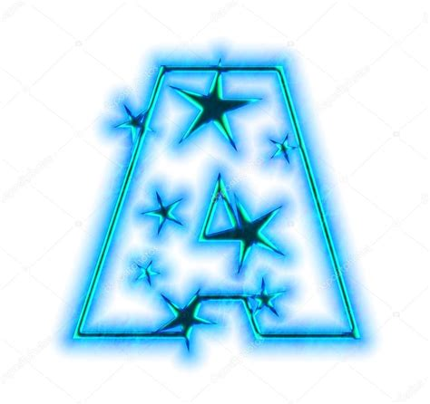 where do sts go on a letter christmas star font letter a stock photo
