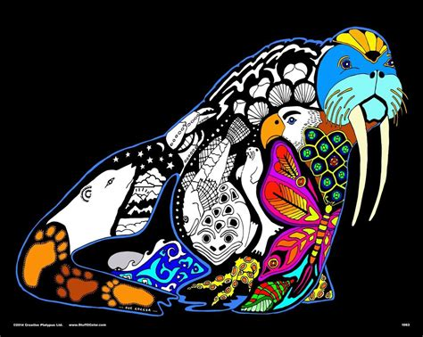 velvet coloring posters walrus large 16x20 inch fuzzy velvet coloring poster ebay