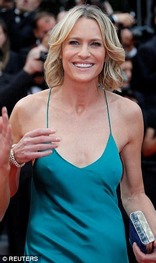Cannes 2017: Robin Wright leads red carpet in turquoise   Daily Mail Online