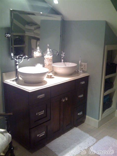 Bathroom Bowl Vanities by Favored White Like Porcelain Glass Vanity Top With 2 Bowl