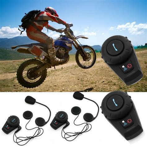 2 X500M Bluetooth Intercom Motorcycle Motorbike Helmet