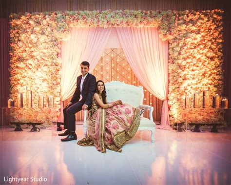 Simple Home Decoration For Engagement Reception Portrait In Jersey City Nj Indian Wedding By Lightyear Studio Maharani Weddings
