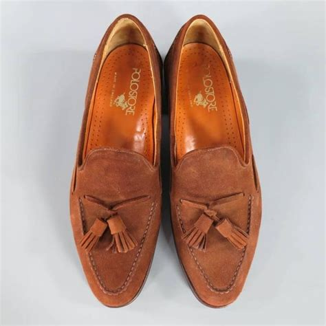 ralph suede loafers vintage ralph size 10 brown suede tassel loafers at