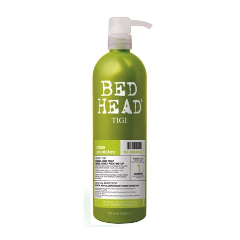 bed head urban antidotes tigi bed head urban antidotes re energize shoo 750ml feelunique com