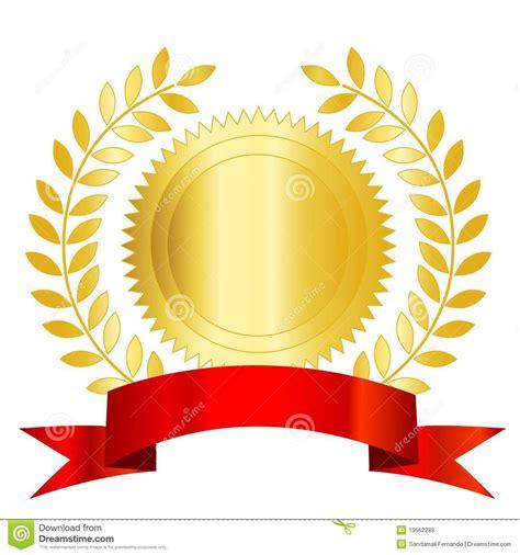 seal ribbon gold seal red ribbon and laurel royalty free stock images