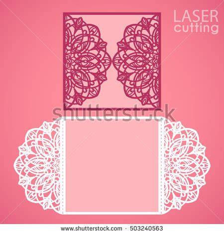 laser cut gate card template laser cut wedding invitation template may stock vector