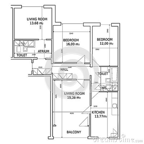 hause plan of drawing building stock image image 25371371