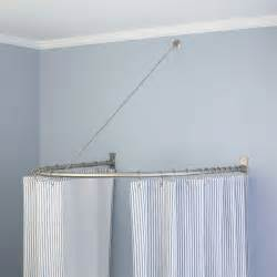 Half Circle Curtain Rod shower curtain rods signature hardware