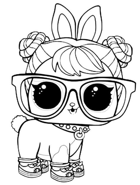 lol surprise pets coloring pages hop hop animal coloring