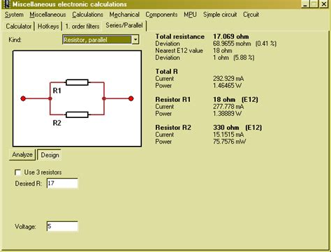 capacitor in series with resistor calculator miscel series parallel
