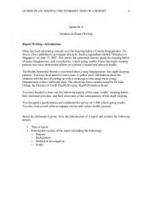 Writing A Lesson Plan Template by Lesson Plan Report Writing